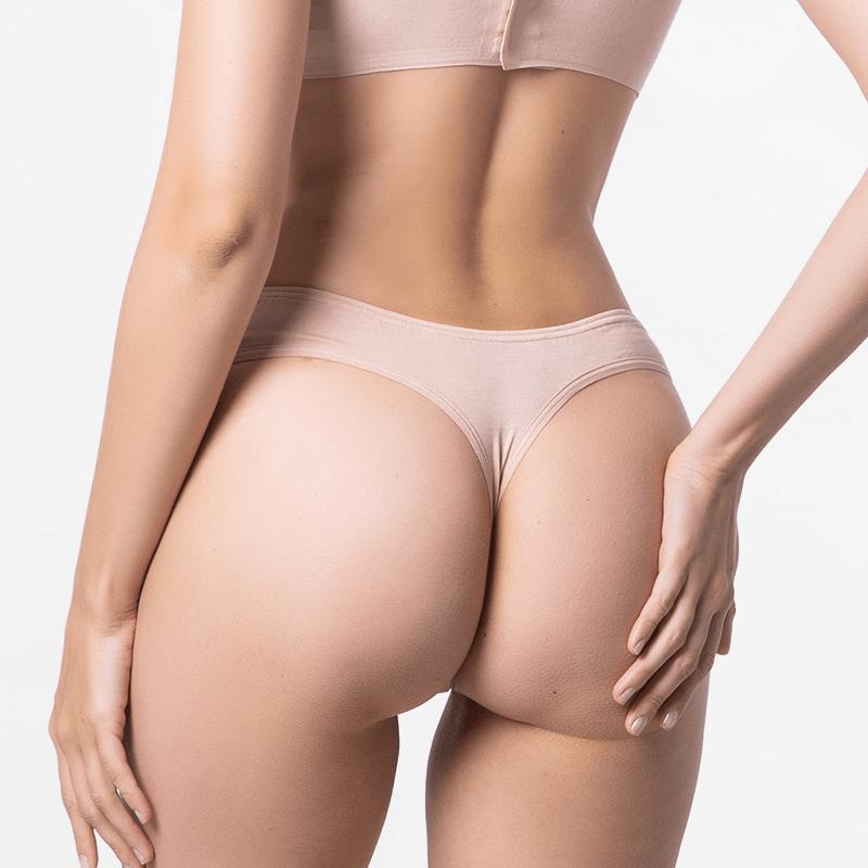 Premium Micro Modal beige dames string extreem comfortabel