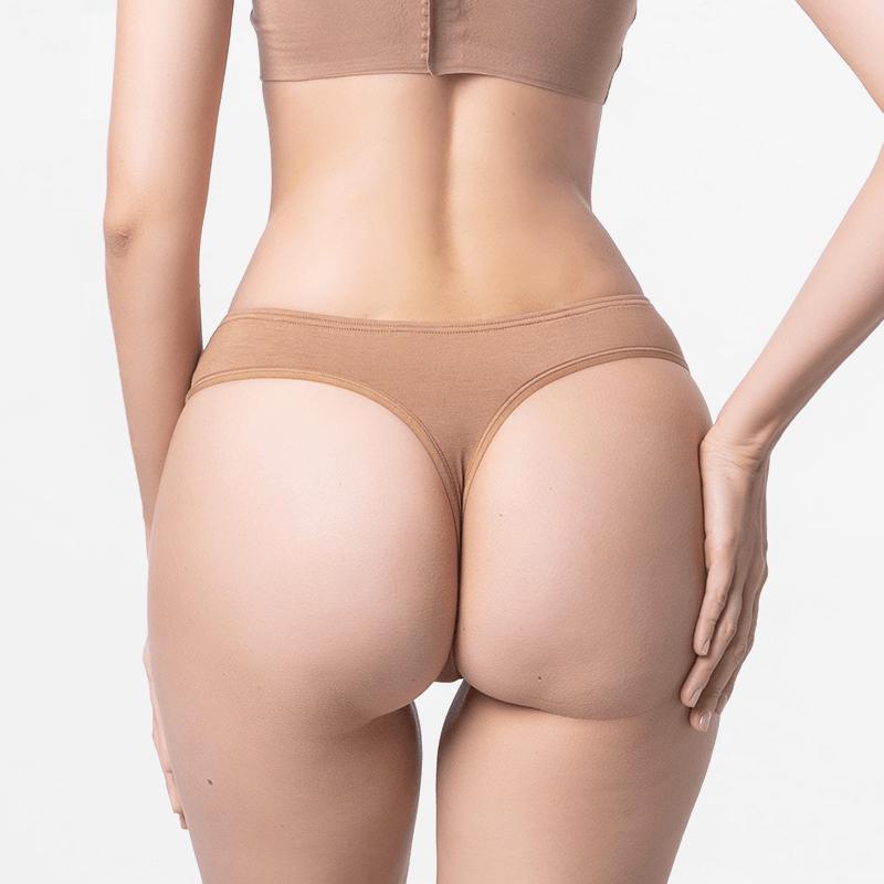 Ladies durable maximale de string brune