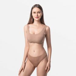 Femmes marron super doux string de sous-vêtements de Modal permanente