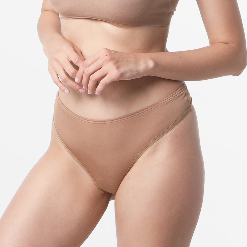 Micro Modal ladies thong brown anti perspirant