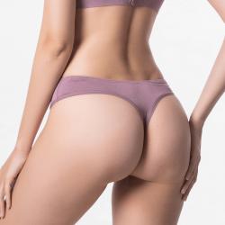 aubergine Ladies underwear with flat seams