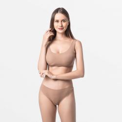 Micro Modal seamless ladies underwear brown