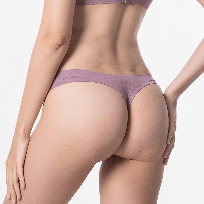 Aubergine sous-vêtements de sport sans soudure Modal Tencel