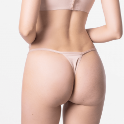 Extremely comfortable g-string tanga ladies beige Micromodal
