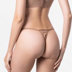 G-string dames tanga fines brun pour votre peau Micromodal