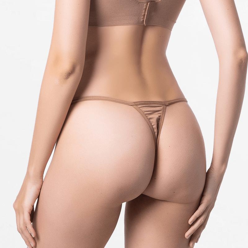 Tanga dames g-string bruin fijn voor je huid van MicroModal