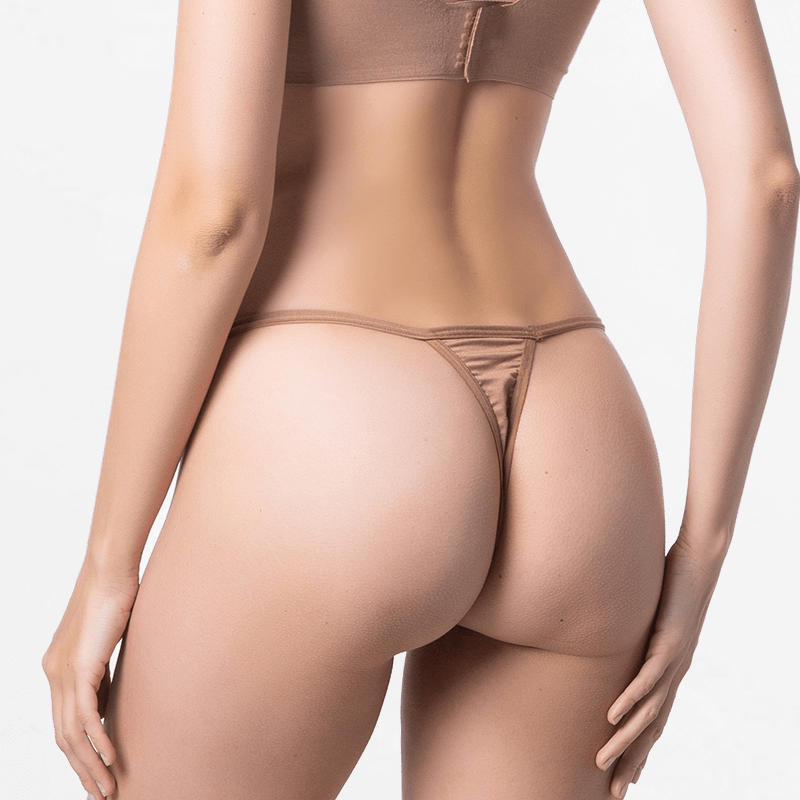G-string tanga ladies brown fine for your skin Micromodal