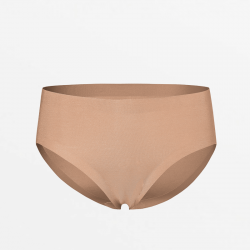 Seamless bikinislip brown with extremely soft Micromodal