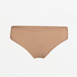 Flat seam hypoallergenic brown ladies underwear