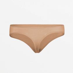 Flat seam hypoallergenic brown ladies thong