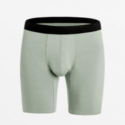 Boxershort naadloos groen van Modal zijde zacht en maximaal duurzaam