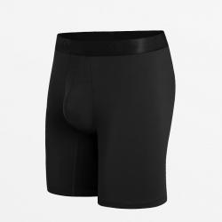Slim-Fit Boxershorts schwarze Männer Micromodal verantwortungsvoll produziert
