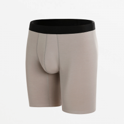 Seamless boxer briefs with long legs