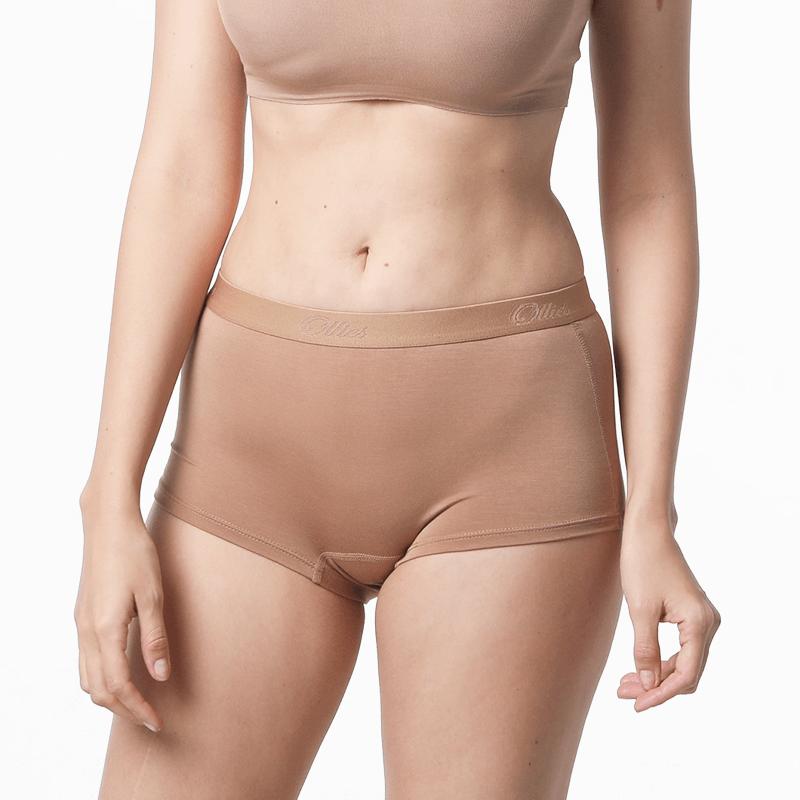 Bruin dames ondergoed van premium MicroModal