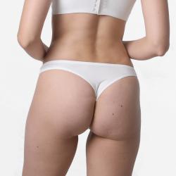 Ladies underwear thong slip ivory micromodal