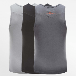 Tank Top singlet action set of 3 pieces in black, gray and anthracite | Ollies Fashion