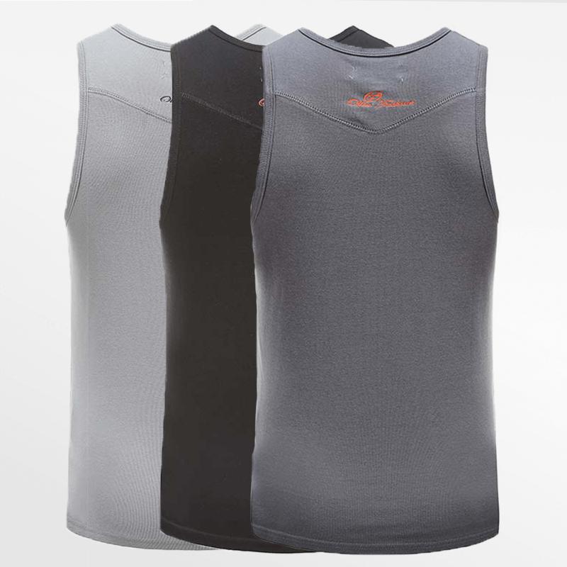 Tank Top singlet action-set von 3 stück in schwarz, grau und anthrazit | Ollies Fashion