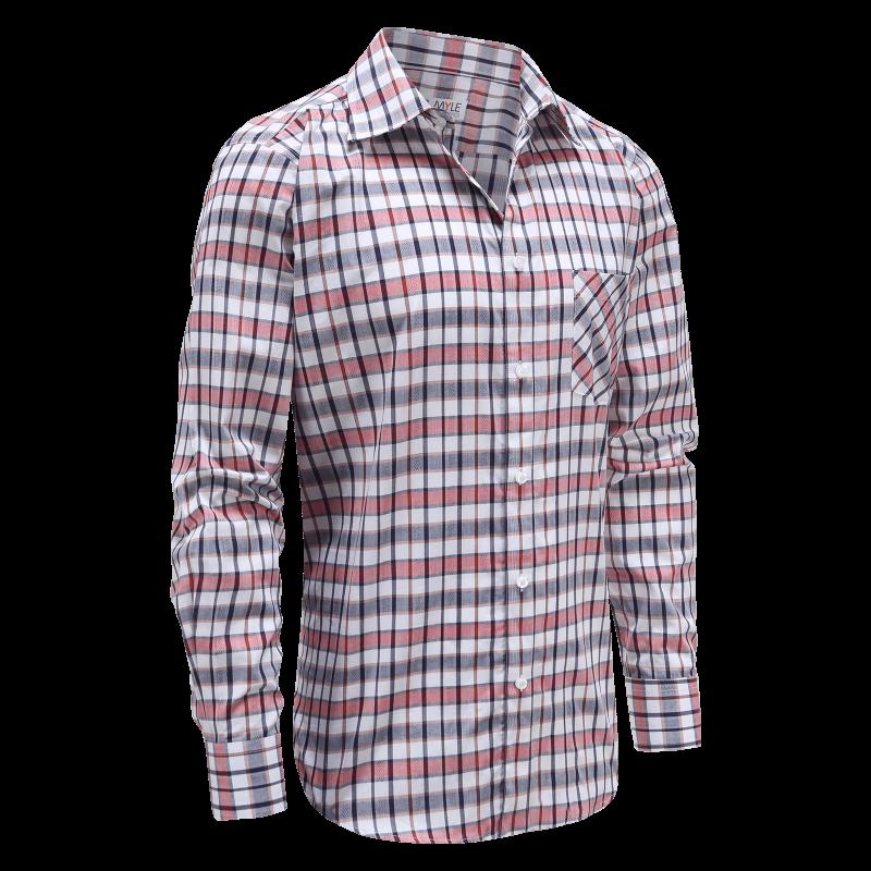 Männer Langarm Oberhemd mit Knöpfen, ideal für Parkinson, Rheuma