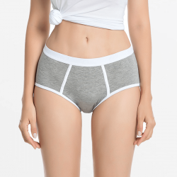 Retro brief menstruatie ondergoed bamboe grijs | Ollies Fashion