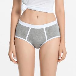 Sous-vêtement menstruel lettre rétro gris bambou | Ollies Fashion