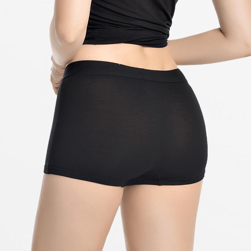 Boxer en bambou femme noir | Ollies Fashion