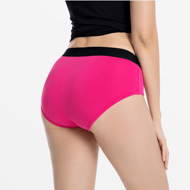 Sous-vêtements en bambou dames rose | Ollies Fashion