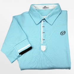 Polo heren licht blauw pique | Ollies Fashion