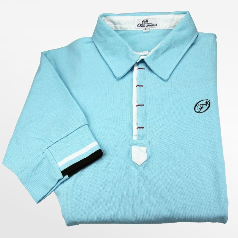 Polo men light blue pique | Ollies Fashion