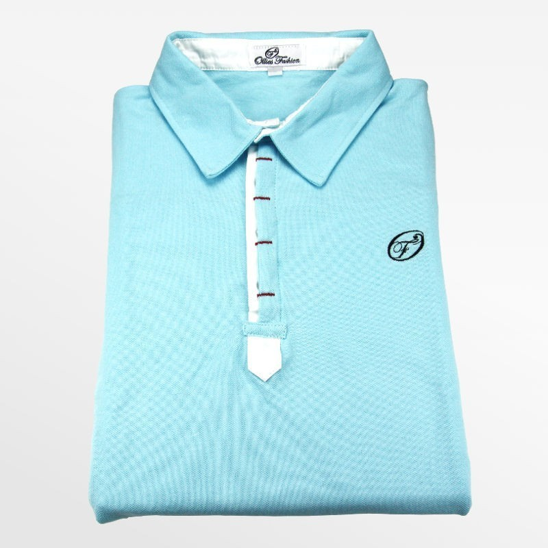 Polo heren licht blauw | Ollies Fashion