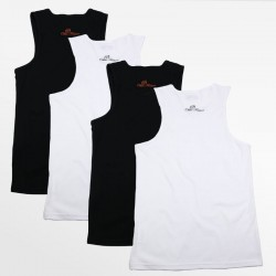 Tank Top männer aktion set von 4 stück schwarz und weiß | Ollies Fashion