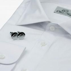 Shirt für Männer weißer Smoking mit Manschettenknöpfen