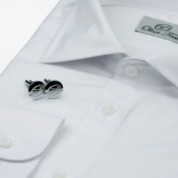 Shirt men's white tuxedo with cufflinks