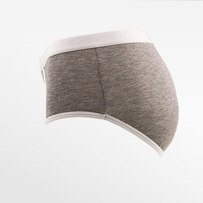 Bambus slip damenunterwäsche grauweiß | Ollies Fashion