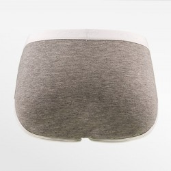 Dames de bambou slip / lettre rétro sous-vêtements gris blanc | Ollies Fashion