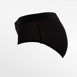 Slip sous-vêtements en bambou noir S, M, L et XL Ollies Fashion