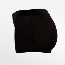 Boxer en sous-vêtement en bambou / hipster noir | Ollies Fashion
