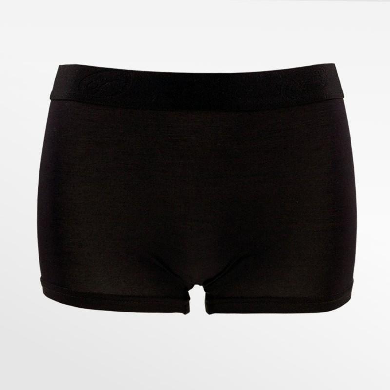 Boxer en bambou / hipster noir, idéal pour les femmes en transition   Ollies Fashion