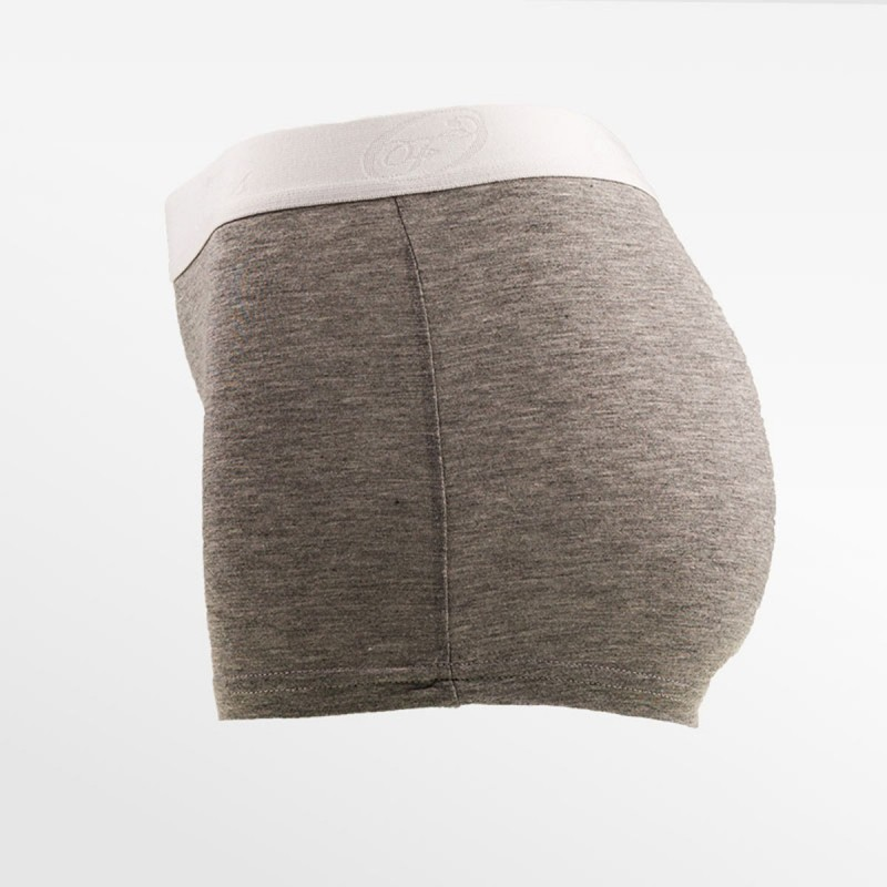Bamboe boxer short / hipster grijs | Ollies Fashion