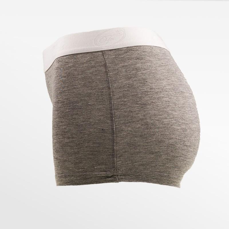 Boxer en bambou court / hipster gris | Ollies Fashion
