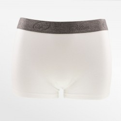 Boxer en bambou court / hipster blanc | Ollies Fashion