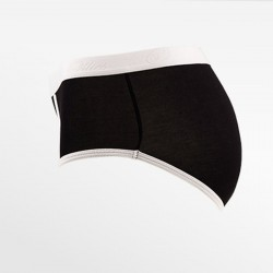 Brief retro bamboe zwart S, M, L en XL | Ollies Fashion