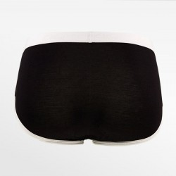 Slip retro damen bambus schwarz mit weißen paspeln S, M, L und XL | Ollies Fashion