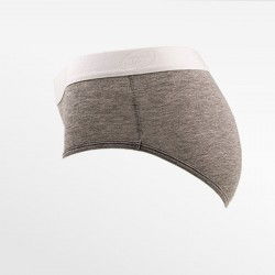 Brief underwear bamboo gray S, M, L and XL   Ollies Fashion