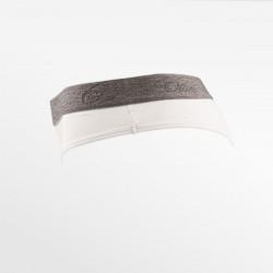 Corde dames dure bambou blanc avec bande élastique grise | Ollies Fashion