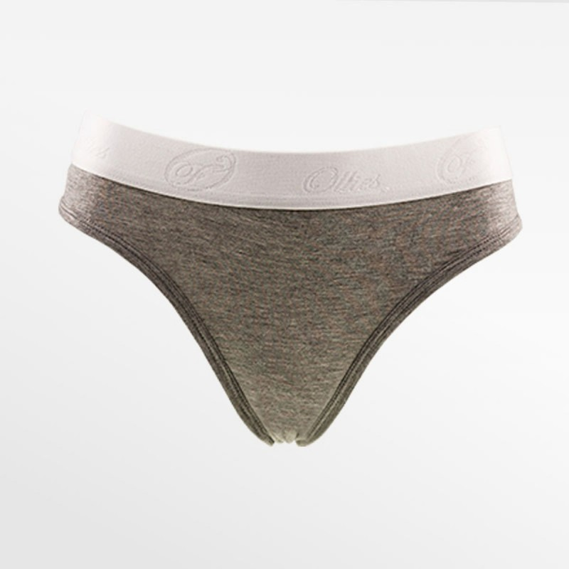 Thong bamboe gray S, M, L and XL | Ollies Fashion