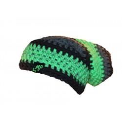 Beanie zwart groen antraciet By MP