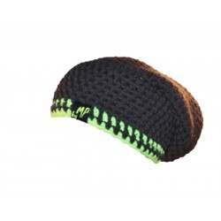 Beanie hat black lime By MP