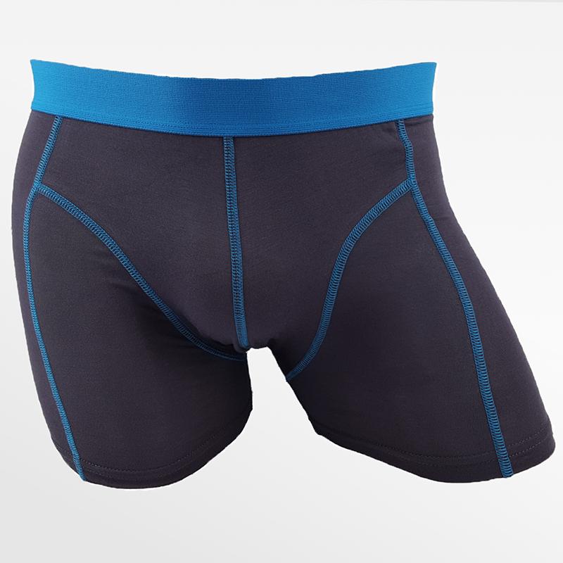 Boxer shorts sous-vêtements hommes bambou anthracite | Ollies Fashion