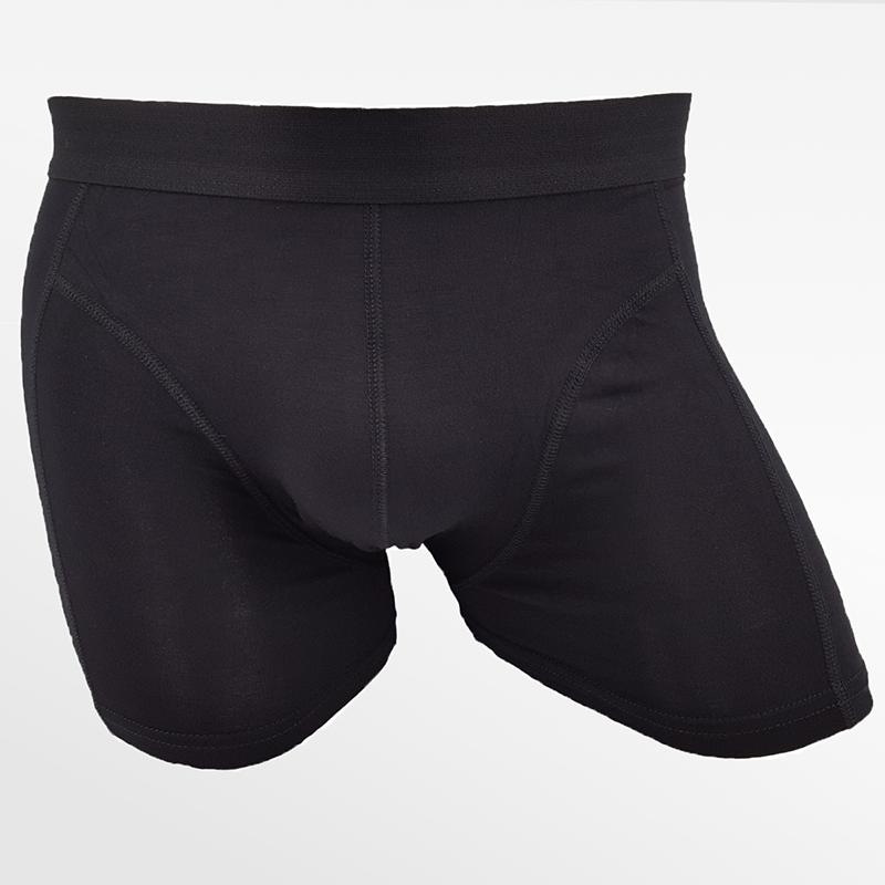 Bamboo fitness underwear bamboo black   Ollies Fashion