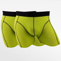 Bamboo boxer shorts green 2 pack | Ollies Fashion